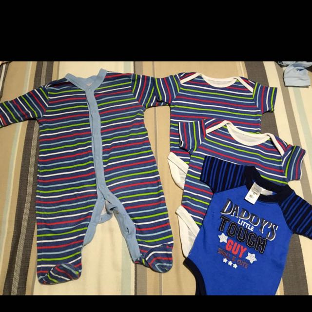 Onsie And New Vests 0-3 Months