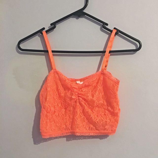 💥 Orange Lace Crop 💥