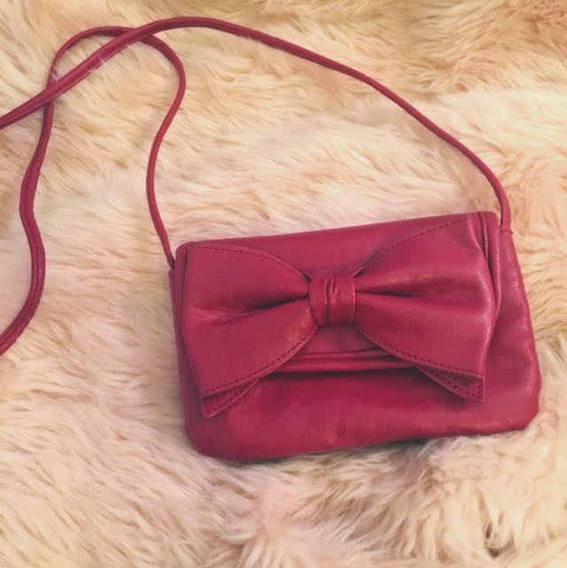 Red Bow Purse Bag🍒