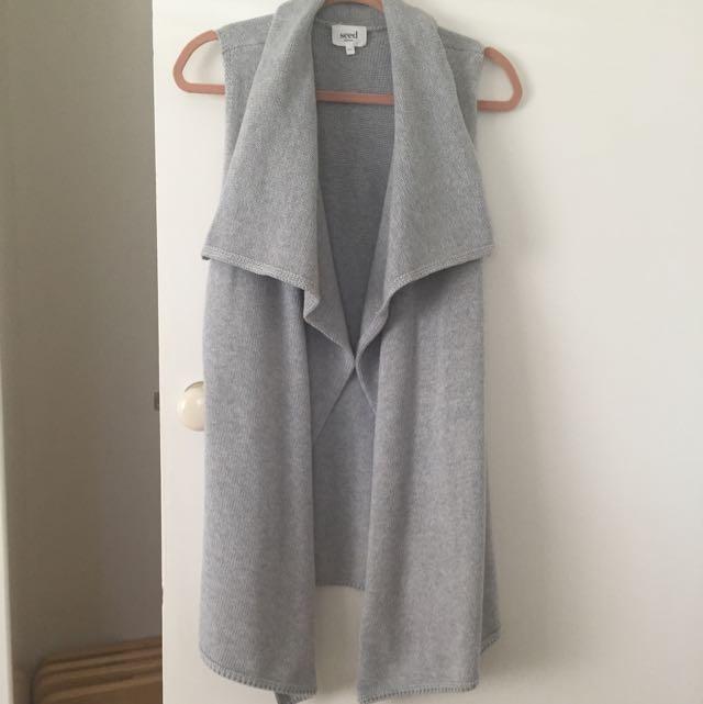 SEED Waterfall Grey Vest