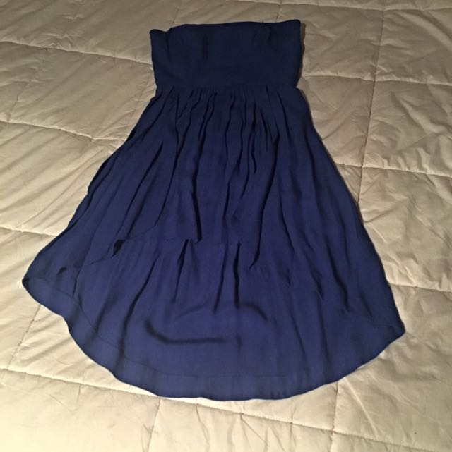 Strapless Royal Blue Dress Size 10