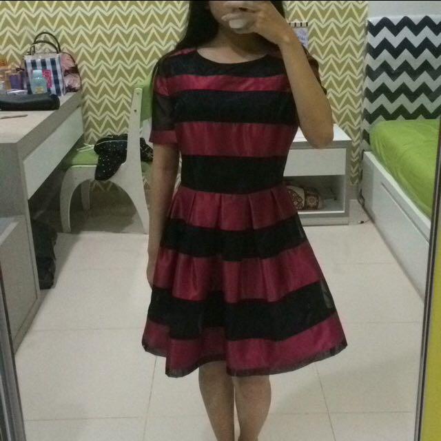 Stripes Prom Dress
