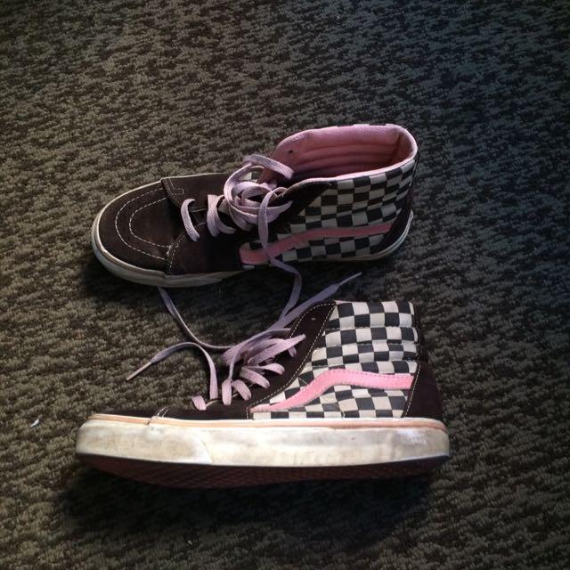 Vans Brown, Pink & White