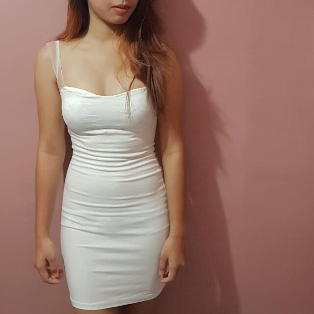 White Bodycon Dress XS