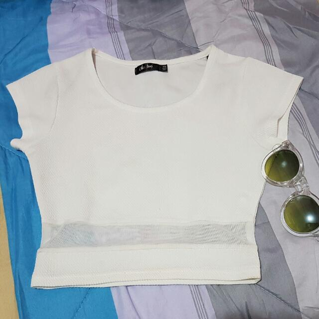 Chic A Booti White Cropped Top
