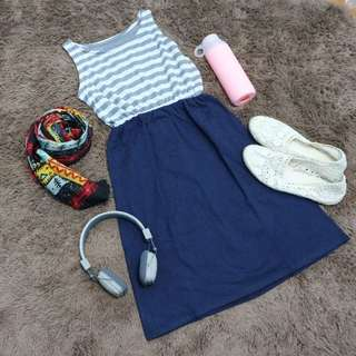 Sweet Stripe Dress [Preloved Dress/Atasan]