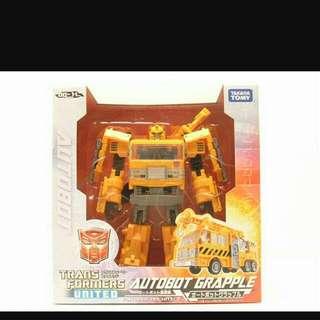 Transformers Tomy Takara United Autobot Grapple UN-11