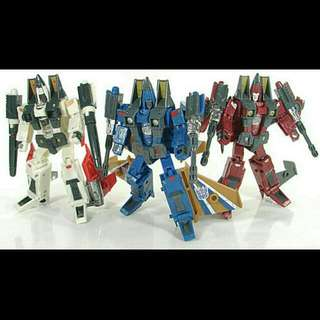Transformers Tomy Takara Henkei Seeker Coneheads Ramjet, Dirge, Thrust
