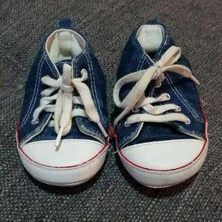 Size 2 Baby Boy Denim Shoes