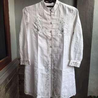 Baju Muslim Minimal White