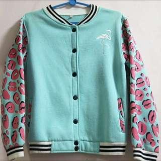 *Friend's Item* Flamingo Bomber Jacket