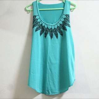 *Friend's Item* Blue Feather Tank Top