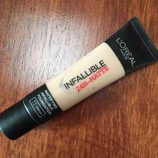L'Oreal Infallible 24h-Matte (Vanilla)
