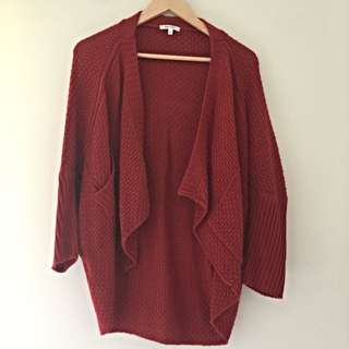 Valley Girl Burnt Red Cardigan
