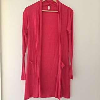 Cotton On Body Pink Long Cardigan