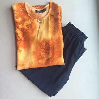 Girl's Kurung Pants Set (Size 4)