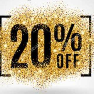 20% Off Purchase Of 2 Items Or More
