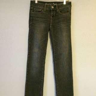 American Eagle Grey Skinny Jeans