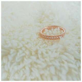 Brand New Sterling Silver ring Rose Gold Color