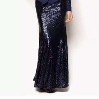 [SOLD] Zalia Mermaid Sequin Maxi Skirt