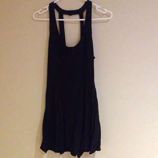 Dotti Size 8 Black Button Front Play suit