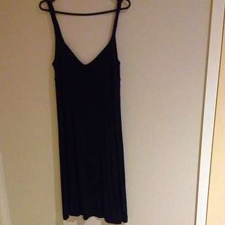 Sports girl Size 8 Black Rope Strap Long Dress
