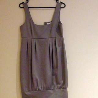 Forever New Silver Metallic Shift Dress Size 8