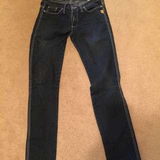 Bettina Liano dark blue jeans sz 28