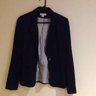Cotton On Size S Black Lined Blazer
