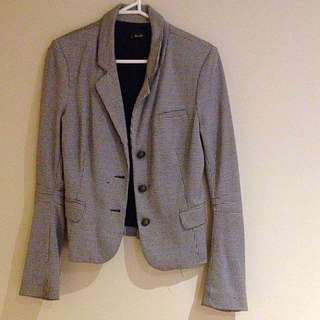 Bardot Size 10 Hounds Tooth Lined Blazer