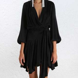 Zimmermann Black Robe Dress