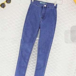 One button Highwaist Jeans