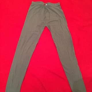 Grey Colour Winter Leggings