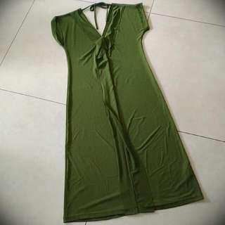 [Preloved] Green Midi Dress