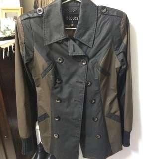 Seduce Black & Khaki Short Trench Coat