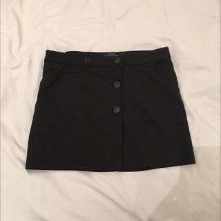 Armani Exchange Black Short Skirt