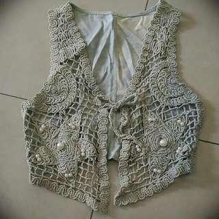 [BN] Knitted Denim Vest