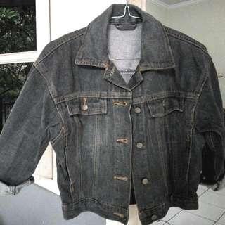 Crop Jacket Jeans (Brown)