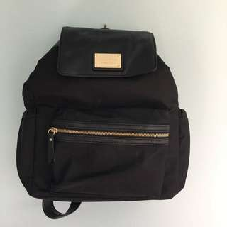 OROTON  Leather Detailed Nylon Backpack