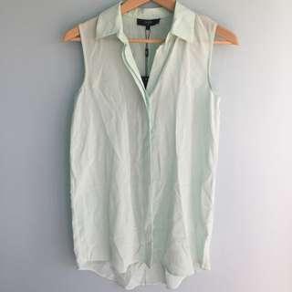 Saba Silk Pale Green Shirt