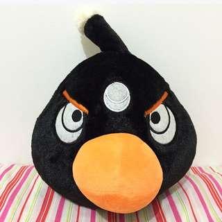 Black Angry Bird Plush 30cm Toy