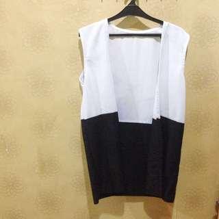 white black vest