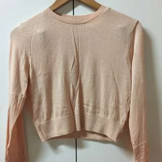 American Apparel Crop Knit Top