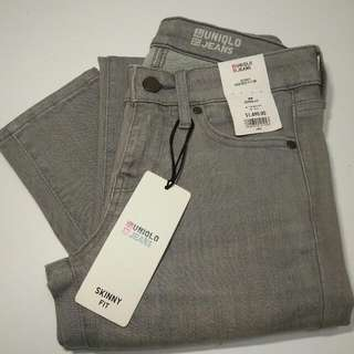 Uniqlo Jeans 灰色特級彈性牛仔褲💓💓