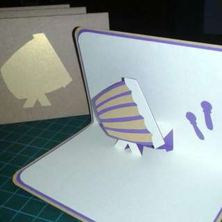 Gema Takbir • Pop-Up Card • Gold Purple