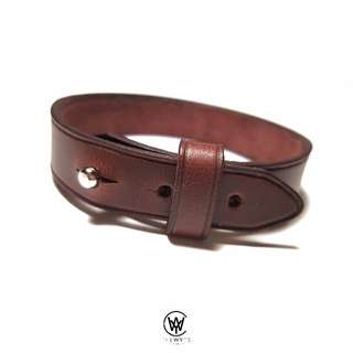 Handmade Genuine Full Grain Leather Bracelet | Handcrafted | Handstitched | D40