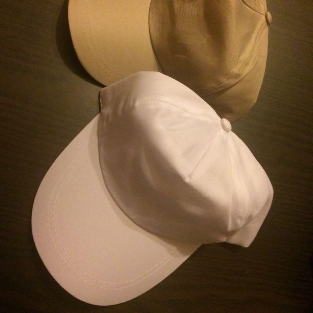 全新兩頂鴨舌帽2頂一起帶100元