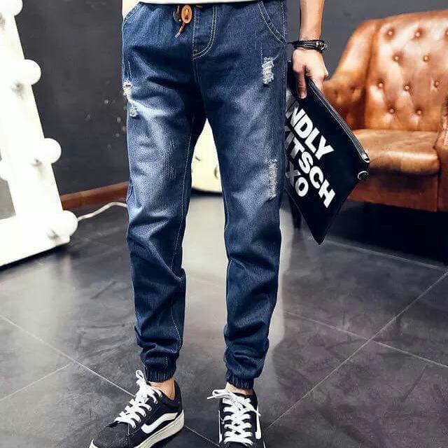 全新新品,男裝 牛仔鬆緊束口褲