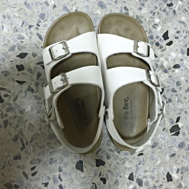 似勃肯 白色涼鞋 休閒鞋