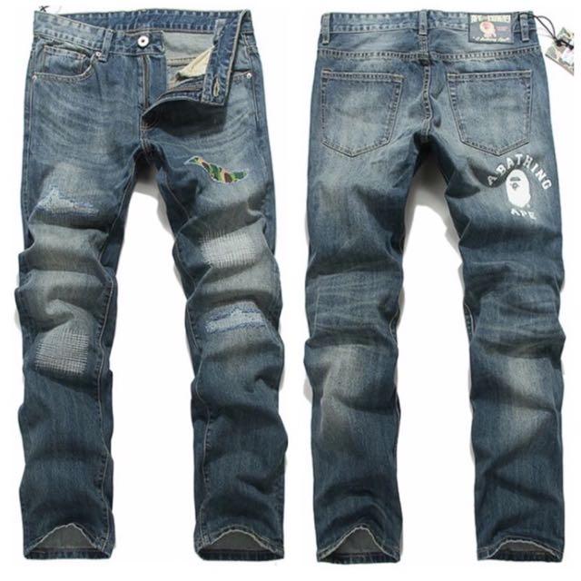 香港 潮流 牛仔褲 APE 猩猩頭 零碼特價促銷